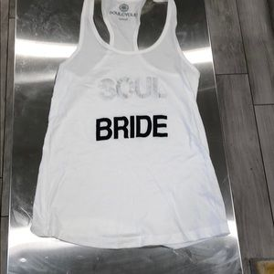 """SoulCycle """"Bride"""" tank top"""